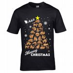 Premium Funny Meowy Christmas Pet Cat Lovers Christmas Tree Motif Cats Feline Kitten Xmas T-Shirt